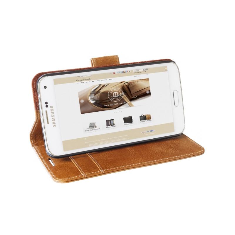 dbramante1928 Leather Wallet Copenhagen Galaxy S6 Lichtbruin