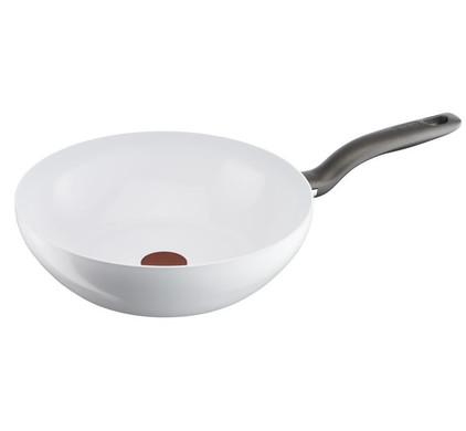 Tefal Ceramic Control White Induction Wokpan 28 cm