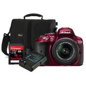 Nikon D5300 + 18-55mm VR II + geheugen + tas + accu
