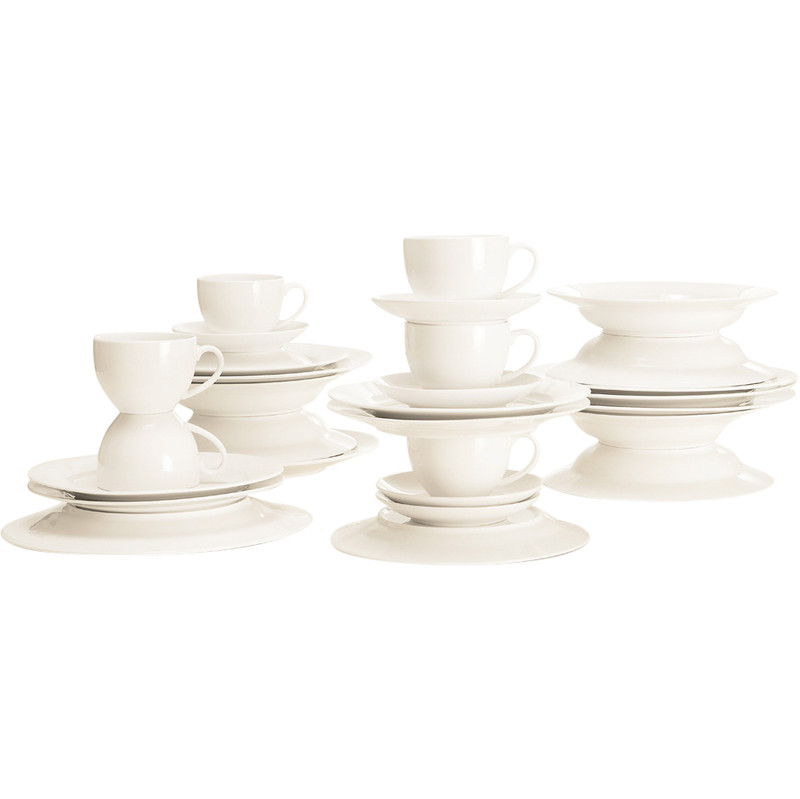 MaxwellandWilliams White Basic Rim Koffie/dinerset 30-delig