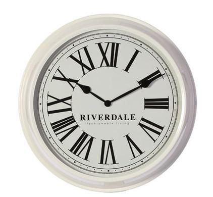 Riverdale Time Wandklok Wit 52cm