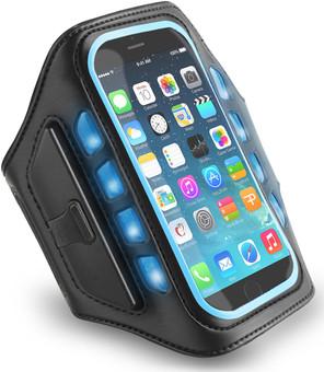 Muvit Universal LED Sportarmband Extra Large Blauw