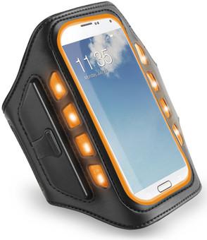 Muvit Universal LED Sportarmband XXL Oranje