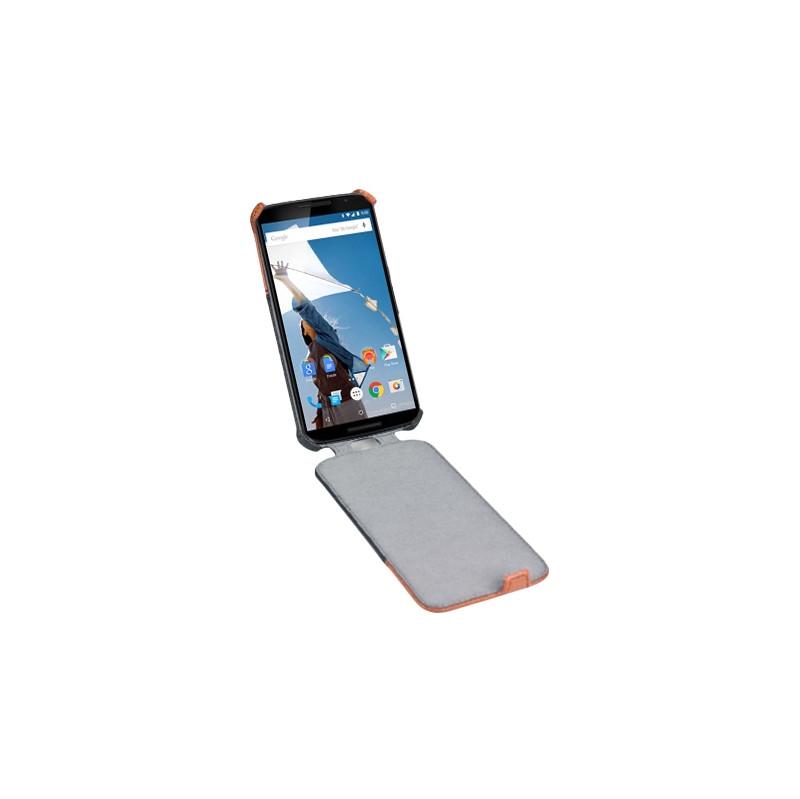 Gecko Covers Flip Case Motorola Nexus 6 Zwart / Bruin