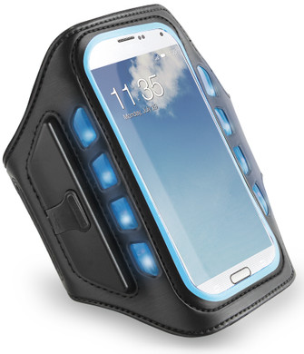 Muvit Universal LED Sportarmband XXL Blauw