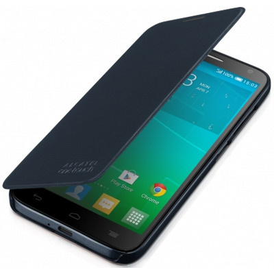 Alcatel One Touch Idol 2 Mini S Flip Case Zwart