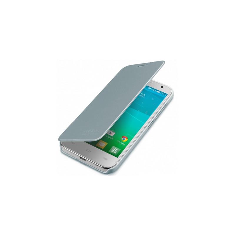 Alcatel One Touch Idol 2 Mini S Flip Case Zilver