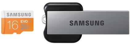 Samsung microSDHC Evo 16 GB Class 10 + USB Adapter