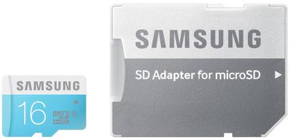 Samsung microSDHC 16 GB + SD Adapter