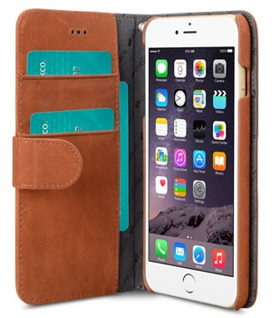 Melkco Leather Wallet Apple iPhone 6 Plus/6s Plus Bruin