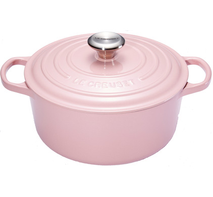Le Creuset Ronde Stoof-/Braadpan 24 cm Chiffon Pink