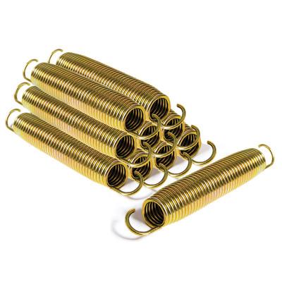 Salta conische goud gekleurde veren 10st. 140mm