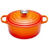 Le Creuset Ronde Stoof-/Braadpan 22 cm Oranje-rood