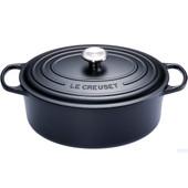 Le Creuset Ovale Stoof-/Braadpan 33 cm Zwart
