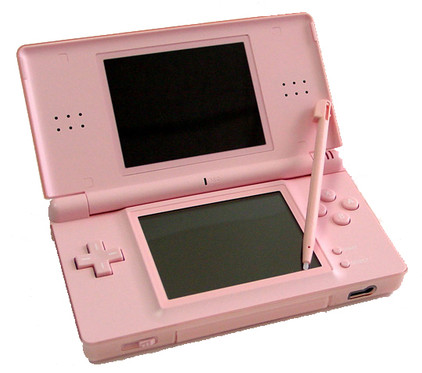 nintendo ds lite pink coolblue. Black Bedroom Furniture Sets. Home Design Ideas