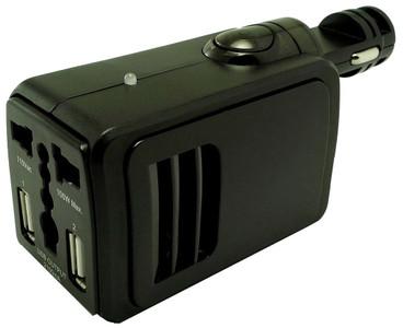 InnoXplore Autolader met Stopcontact en Dual USB