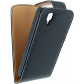 Xccess Leather Flip Case Wiko Goa Zwart