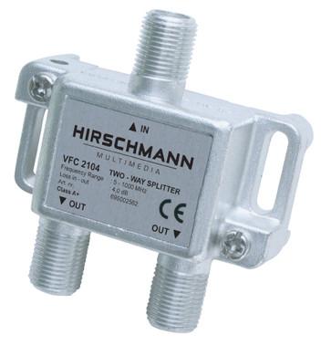 Hirschmann VFC2104 antennesplitter F-connector