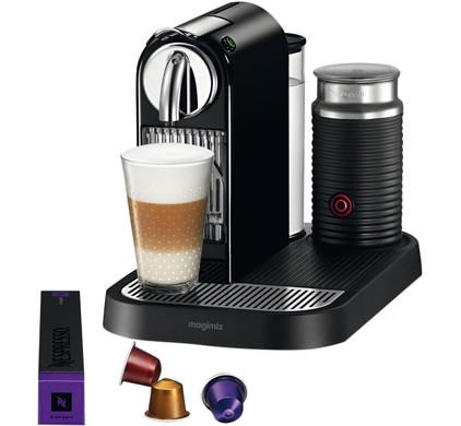 magimix nespresso citiz milk m190 zwart. Black Bedroom Furniture Sets. Home Design Ideas