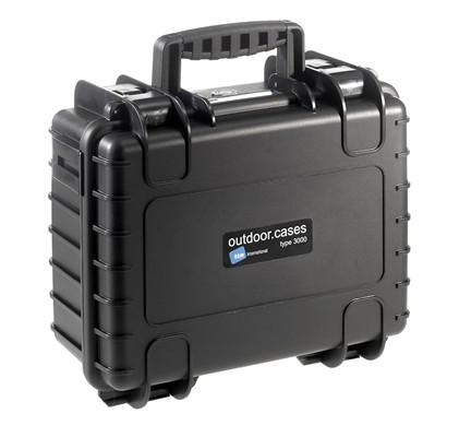B&W Outdoor.Cases Type 3000 Zwart / Verdeler