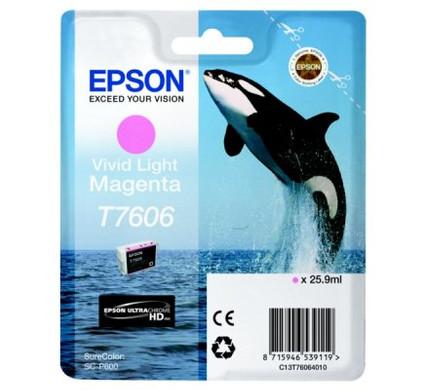 Epson T7606 Cartridge Lichtmagenta C13T76064010