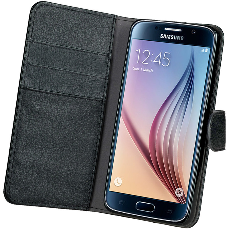 Gecko Covers Wallet Case Samsung Galaxy S6 Zwart