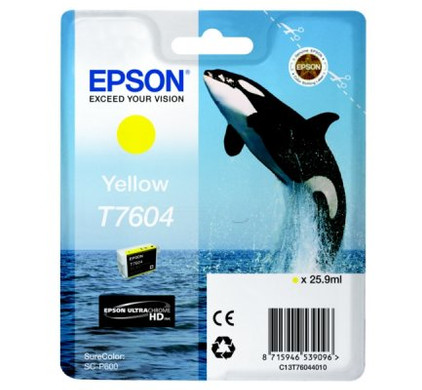 Epson T7604 Cartridge Geel C13T76044010