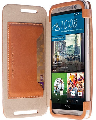 Krusell Book Case Kiruna HTC One M9 Bruin