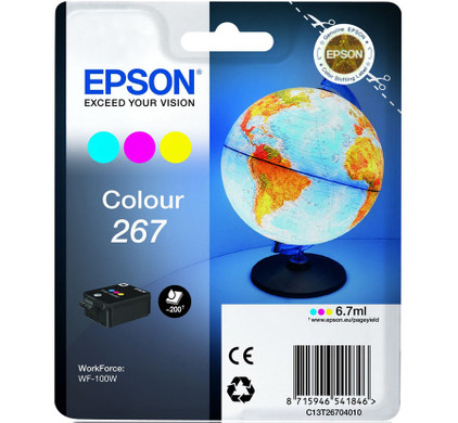 Epson Globe 267 Cartridge 3-Kleuren C13T26704010