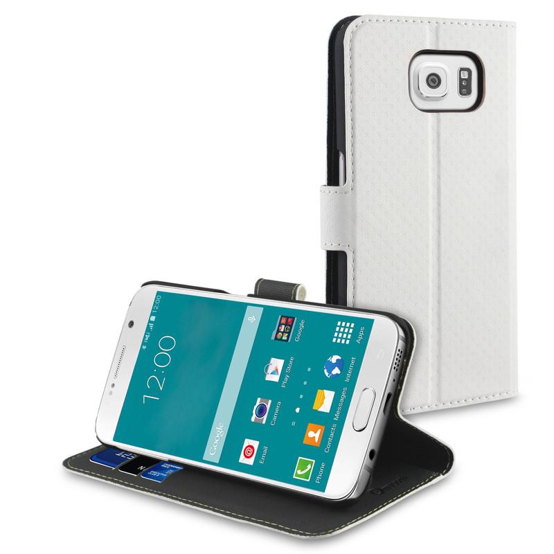 Muvit Wallet Stand Case Samsung Galaxy S6 Wit