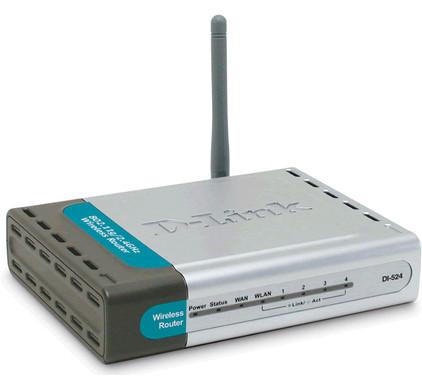 D-Link DI-524 Wireless Router - High Speed 2.4GHz (802.11g)