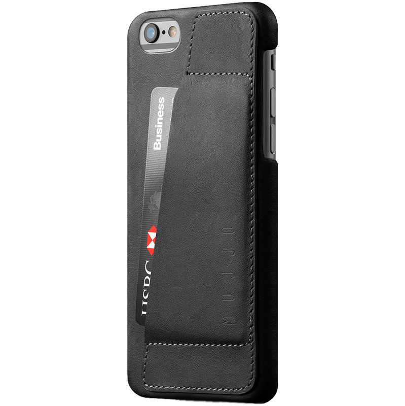 Mujjo Leather 80° Black iPhone 6-6S