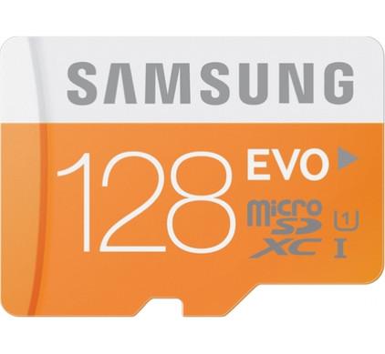 Samsung microSDXC Evo 128 GB Class 10 + SD Adapter