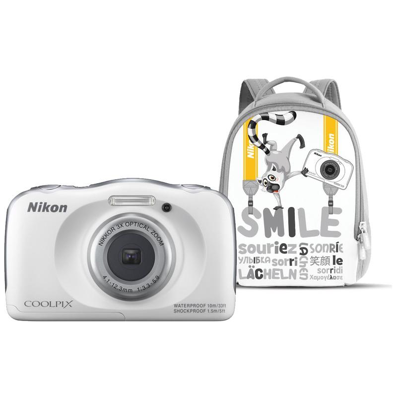 Nikon Coolpix S33 Wit Met Rugzak