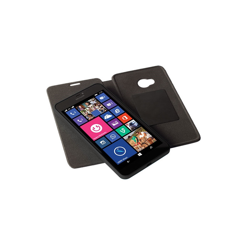 Krusell Kiruna Folio Skin Microsoft Lumia 640 Zwart