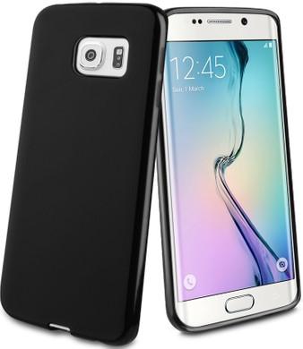 Muvit Minigel Case Samsung Galaxy S6 edge Zwart