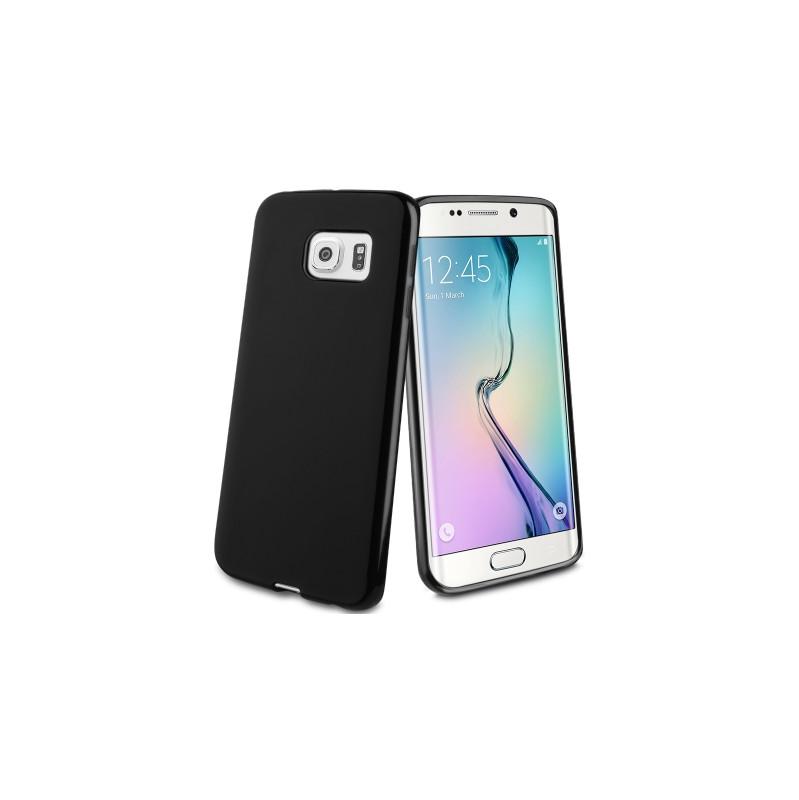 Muvit Minigel Case Samsung Galaxy S6 Edge Zwart vandaag bezorgd