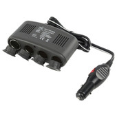 HQ 4-weg autoverdeeladapter 12 V + USB
