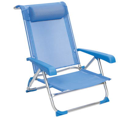 Red Mountain Deluxe - Beach Chair - Aluminium - Blauw