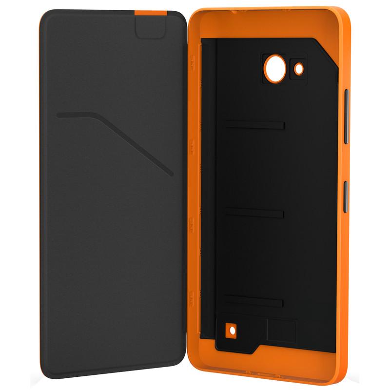 Microsoft Lumia 640 Flip Shell Oranje