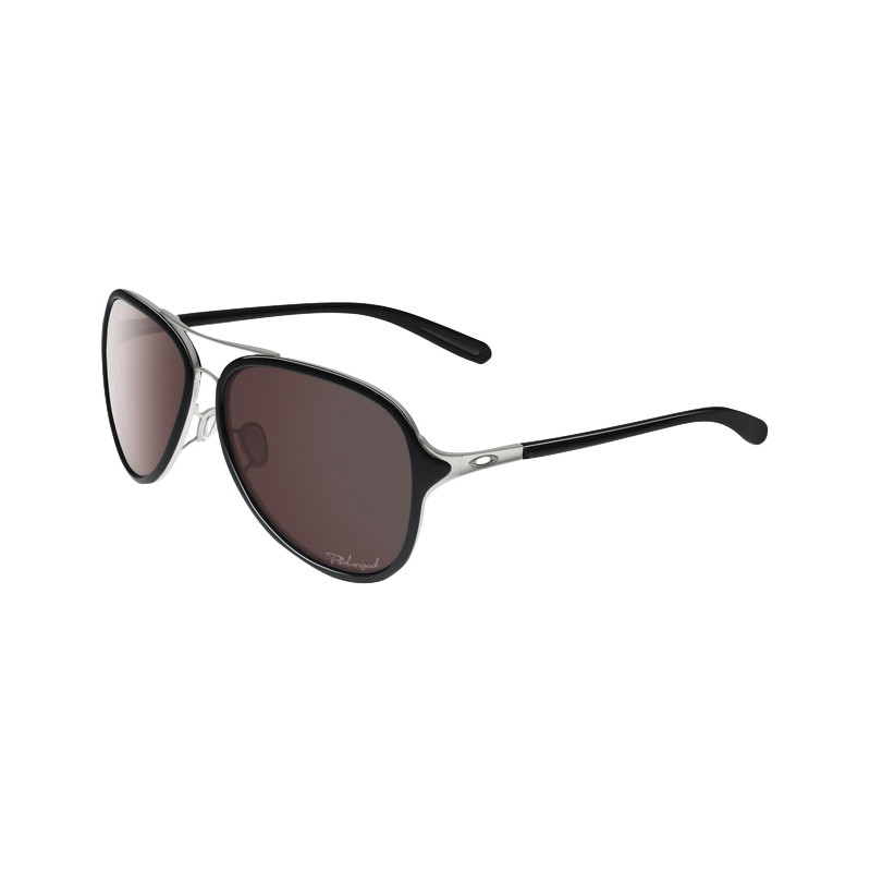 Oakley Kickback Satin Chrome/oo Black Iridium Polarized