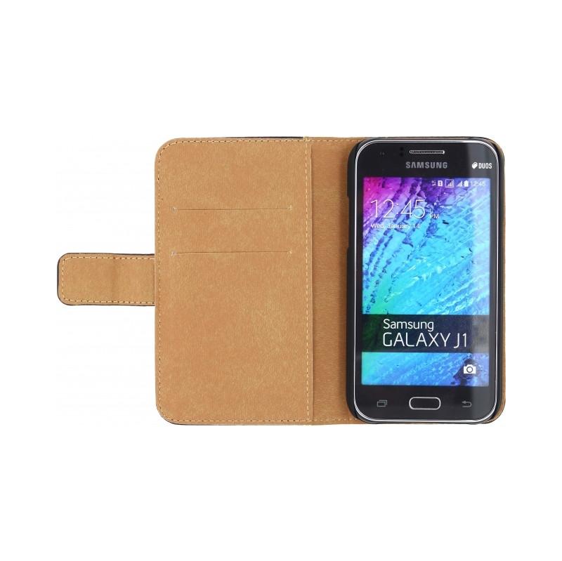 Mobilize Slim Wallet Book Case Samsung Galaxy J1 Zwart