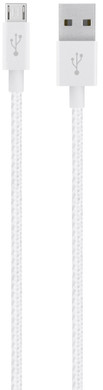 Belkin Mixit Premium Braided Micro USB Kabel Wit
