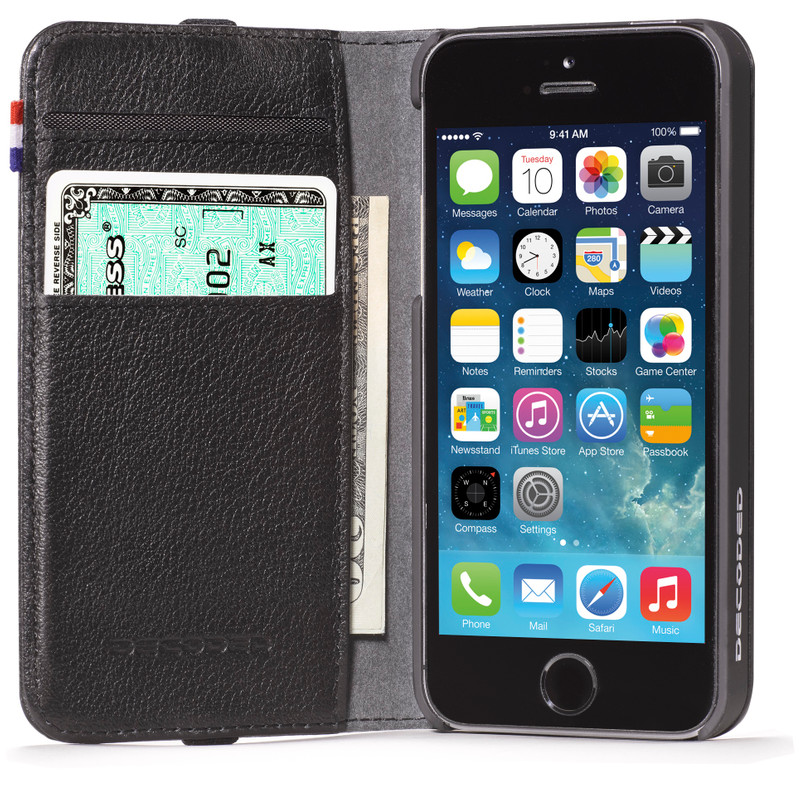 Decoded Leather Wallet Apple iPhone 5 / 5S Black