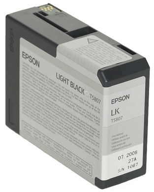 Epson T580700 Light Black Ink Cartridge (licht zwart) C13T580700