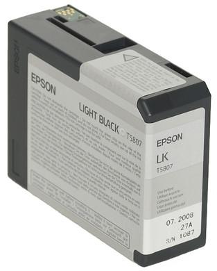 Epson T580700 Light Black Ink Cartridge (licht zwart) C13T580700