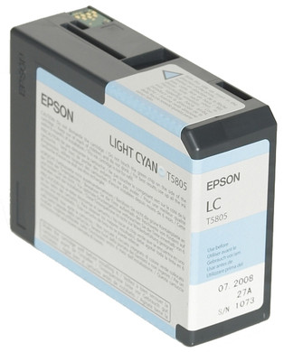 Epson T580500 Light Cyan Ink Cartridge (licht blauw) C13T580500