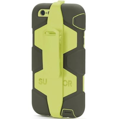 Griffin Survivor voor de iPhone 6 Plus - Grijs/ Limoen