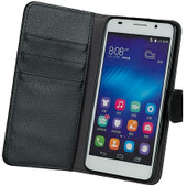 Gecko Covers Honor 6 Wallet Cover Zwart