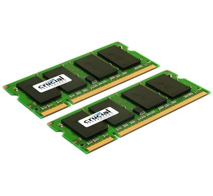 Crucial 4 GB SODIMM DDR2-800 2 x 2 GB
